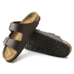 BIRKENSTOCK ARIZONA CIABATTE UOMO DOPPIA FIBBIA VEGAN SADDLE MATT BROWN