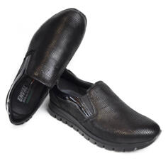 ENVAL SOFT MOCASSINO DONNA SLIP-ON PELLE SUPER MORBIDA NERO