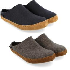 HAFLINGER EMIL'S CHOICE TOFFEL GRIGIO BLU PANTOFOLE UOMO DONNA IN LANA