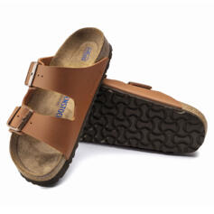 BIRKENSTOCK ARIZONA CIABATTE DONNA PLANTARE MORBIDO SFB GINGER BROWN