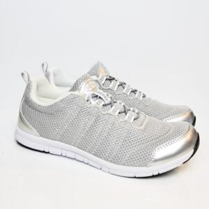 DR SCHOLL SNEAKER WIND STEP SILVER DONNA