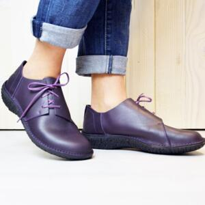 LOINTS OF HOLLAND SCARPE DONNA STRINGATE FUSION VIOLET PELLE NATURALE