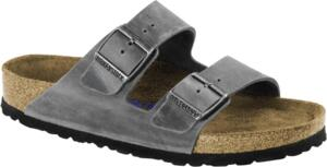 BIRKENSTOCK ARIZONA PLANTARE MORBIDO SFB CIABATTE UNISEX IRON OILED LEATHER