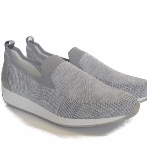 ARA MOCASSINI DONNA COMODI SLIP ON SILBER MULTI (GRIGIO)